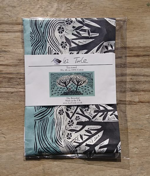 Tea towel packaged